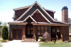 rustic house plan with stone