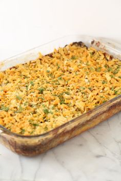 Creamy, crunchy, salty, and cheesy, this casserole is everything you want in a decadent, special occasion dish.