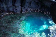 Inside view of cave in Sal Santa Maria Cape Verde