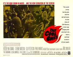 """THE COOL ONES. 1967 Movie. A Go-Go girl on a 1960s teenage rock and roll TV show called, """"Whizbam,"""" invents a new dance called, """"The Tantrum."""" Roddy McDowall as a parody of very eccentric Phil Spector.   Music by the Leaves, the Bantams, Glen Campbell, the Forté Four, Mrs. Miller. Fun spoof of Hullabaloo, Shindig! and the 1960s teenage music business. Tons of fun tunes!   This is 1960s singing legend Mrs. Miller's only film appearance. Wonderfully fun movie! On DVD,"""