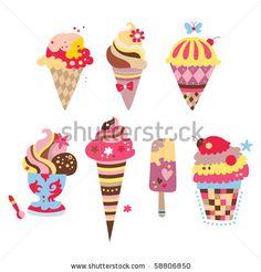 Ice Cream Surprise Party Clip Art | Clip art, Cream and Small ...