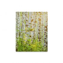 InterestPrint Spring Birch Tree With Green Leaves Canvas Wall Art Print Landscape Painting Wall Hanging Artwork Stretched and Gallery Canvas Ready to Hang for Home Decorations