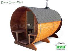 Barrel Sauna Kit W26 for four people! Prefab Wooden Sauna Kit For Sale From bzbcabinsandoutdoors.net