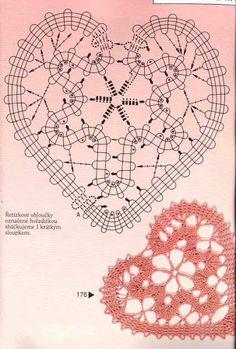 Heart bobbin lace pattern