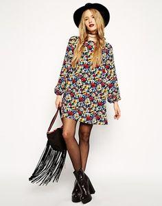 Увеличить Свободное платье с цветочным принтом ASOSReclaimedVintage