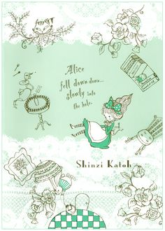 Shinzi Katoh Alice in Wonderland B5 Notebook