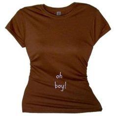 Flirty Diva Tees Woman's SoftStyle T-Shirt-Oh Boy-Brown-White (Apparel)  http://store.celebszine.com/mliud.php?p=B006IVJC54  B006IVJC54