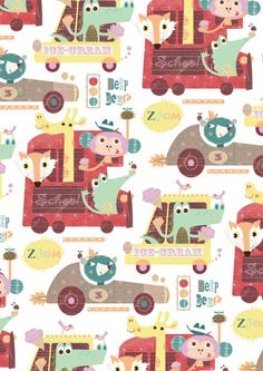 Repeat Pattern Characters by Stephanie Hinton, via Behance