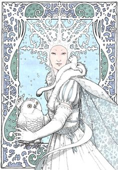 'The Snow Queen' by Tomislav Tomic Invite framing