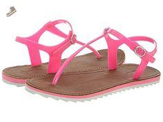 Lacoste Women's Luzerne Fluro Pink Sandal 8 M - Lacoste sneakers for women (*Amazon Partner-Link)