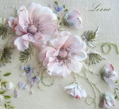Wonderful Ribbon Embroidery Flowers by Hand Ideas. Enchanting Ribbon Embroidery Flowers by Hand Ideas. Embroidery Designs, Ribbon Embroidery Tutorial, Silk Ribbon Embroidery, Crewel Embroidery, Embroidery Patterns, Embroidery Supplies, Simple Embroidery, Embroidery Thread, Embroidery Alphabet