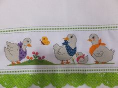 Cross Stitching, Cross Stitch Embroidery, Cross Stitch Patterns, Cross Stitch Baby, Cross Stitch Animals, Hand Embroidery Videos, Coq, Baby Cardigan, Hobbies And Crafts