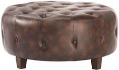 Farrow Round Tufted Ottoman - Ottomans - Living Room - Furniture | HomeDecorators.com