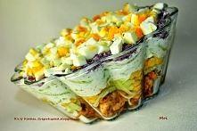 Zobacz zdjęcie Sałatka drobiowa z tzatziki. Składniki: 500 g filetów z kurczaka 500 g świeży...