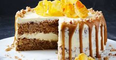 This amazing slow-cooker hummingbird cake only requires 15 minutes prep and is best served with tangy cream cheese icing. Best Slow Cooker, Slow Cooker Recipes, Crockpot Meals, Hummingbird Cake Recipes, Caramel Pears, Pear Dessert, School Cake, Cream Cheese Icing, Savoury Cake