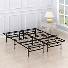 SimpleHouseware Queen Size Mattress Foundation Platform Bed Frame Queen *** You can find more details by visiting the image link. (This is an affiliate link) Platform Bed Frame Full, Best Platform Beds, Metal Platform Bed, Trundle Bed Frame, Twin Size Bed Frame, Full Bed Frame, Minimalist Bed Frame, Making A Bed Frame, Full Size Mattress