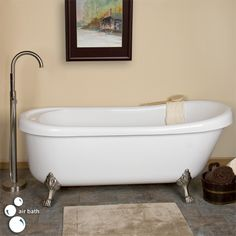 """73"""" Jackson Acrylic Clawfoot Air Bath Tub on Lion Paw Feet  Heated air bath - imagine the feet in oil rubbed bronze with more classic english telephone faucet..."""