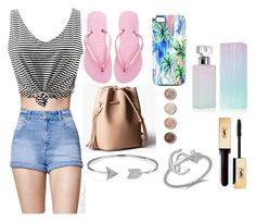 """""""Day at the Beach"""" by atoloski ❤ liked on Polyvore featuring Kendall + Kylie, Havaianas, Nikki Strange, Bling Jewelry, Terre Mère, Calvin Klein, beautiful and beach"""