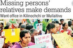 Missing persons' relatives make demands - Ceylontoday.lk