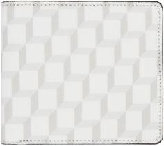 Pierre Hardy - Portefeuille blanc à motif de cubes