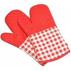 UBEST Ofenhandschuhe, verlängern Backhandschuhe, Silikon Topfhandschuhe, Isolierte Grillhandschuhe, 1 Paar, rot Oven, Ovens