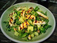 Halloumi, Salad, Salads, Lettuce