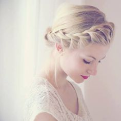 This is the FIRST braided hair updo that doesn't look horribly unnatural. Love it.