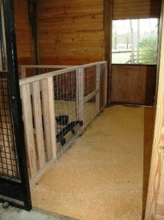 Small pen area inside goat barn for kidlings during the spring. Goat Shelter, Goat Pen, Show Goats, Wooden Dog Kennels, Barn Stalls, Goat House, Dog House Plans, Raising Goats, Farm Projects