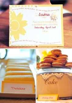 Sunny Lemonade Stand Birthday Soirée - You are my sunshine invitation