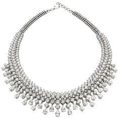 Diamonds in 18K gold necklace