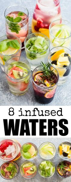 Stay hydrated with these 8 Infused Water recipes! Inspired by The Flavor Bible, these fruit and herb combinations will encourage you to drink more water.