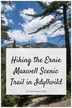 Hiking Ernie Maxwell Scenic Trail in Idyllwild California | Things to do in Idyllwild | San Jacinto Mountains | Visiting Idyllwild | Los Angeles Day Trips | Weekend Getaway from LA | California Travel | California Tourism | Places to go in California | Mountain Vacation | What to do in Idyllwild | Southern California Hikes | Dog-friendly Hikes in Southern California