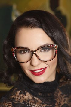 Customized cat eyes glasses, pin up frames on Etsy, $24.90