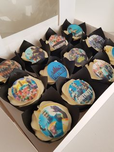 Cupcakes for all of those Fortnite fanatics. You might just get them off their consoles long enough to try one!  Available with personalisation and ideal as cake handouts or to accompany a main cake design.  Freshly made and available in Shoreham-by-Sea, Brighton and surrounding areas. Brighton And Hove, Little Cakes, Consoles, Wedding Cakes, Finding Yourself, Birthdays, Cupcakes, Treats, Sea