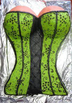 Green Corset Cake