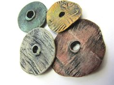 Ragged Robyn - Artisan Disc Beads Painted Porcelain