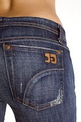 Joes Jeans...perfect for the gal with a small waist and a big booty! :)