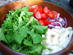 Healthy Road Adventures, or Spicing Things Up: The Culinary Adventures on the Road to Healthy: Arugula and kohlrabi salad