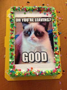 Grump Cat goodbye cake!