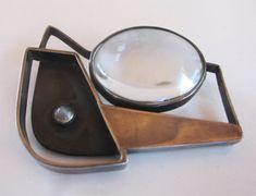 Margaret DePatta Pin (gold, topaz, peridot), 1960.