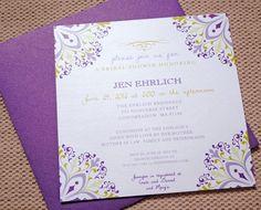 purple and green wedding invitations - Google Search