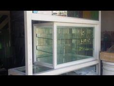 Como hacer una vitrina de aluminio 1 - YouTube