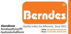 Through brand awareness Berndes Cookware USA shares its focus by distinguished hashtags such as: #wemakequalitysince1921, #qualitymakesthedifference and #berndescw. Berndes Cookware USA wants to take a trending brand and connect with consumers to make the difference in cooking. By searching the trending hashtag phrases consumers will be able to find what's trending with Berndes Cookware.