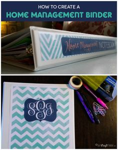 How to Create a Home Management Binder + FREE Editable Cleaning Schedule Printable