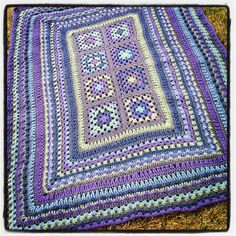 Week 8 crochet a long progress picture #CAL #Afghan #Crochet ~ I think this would be pretty on the floor as an area rug, too.