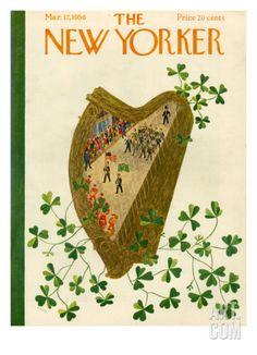 The New Yorker Cover - March 17, 1956 by Ilonka Karasz. Premium Giclee Print from Art.com, $157.00