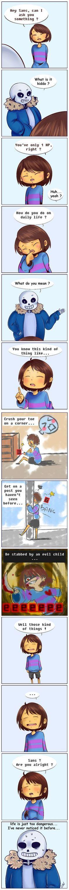 Undertale comic - Life is so dangerous XD