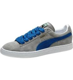 Suede Classic Eco Sneakers, gray violet-puma royal