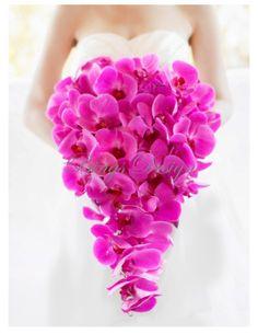 pink orchid cascade bouquet www.BingsDesign.com