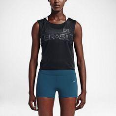 Nwt$70 Wmns Mlxl Nike Dry Team Brazil Mesh Reflective Running Tank Top Fitness